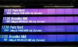 Horarios del Tren Eurostar